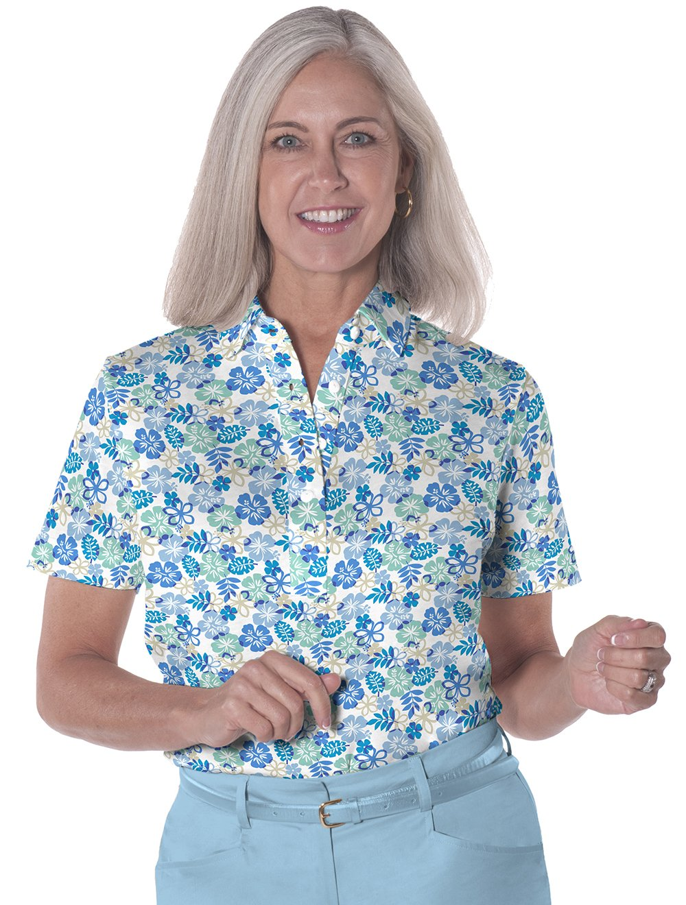 Short Sleeve Print Polo</br>A Place in the Sun 05J - Leonlevin