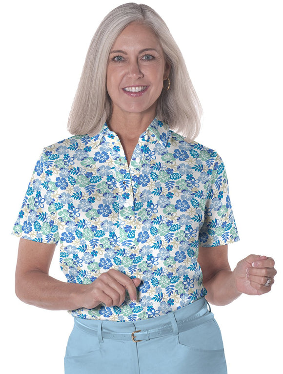 Short Sleeve Print Polo</br>A Place in the Sun 05J