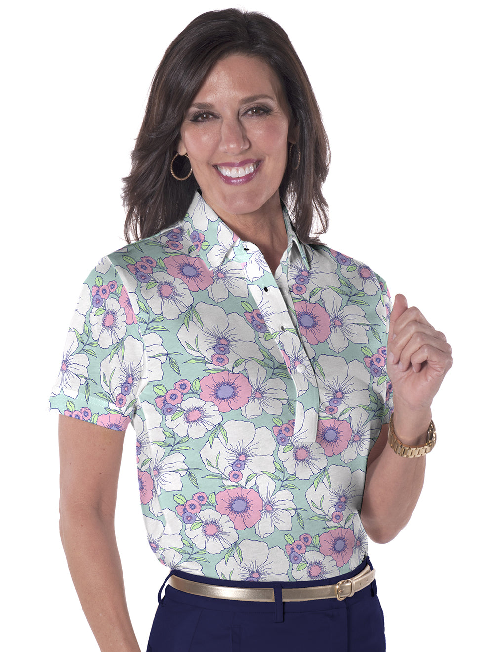 Short Sleeve Print Polo</br>Stand_Out 07F