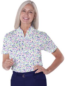 Short Sleeve Print Polo</br>Here and There 07G - Leonlevin