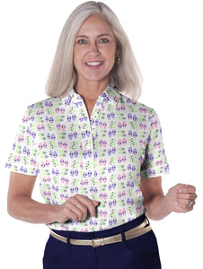Short Sleeve Print Polo</br>Flip Out 07J