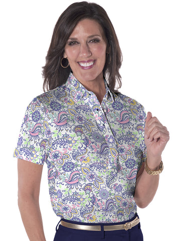 Short Sleeve Print Polo Cool Breeze 07L - Leonlevin