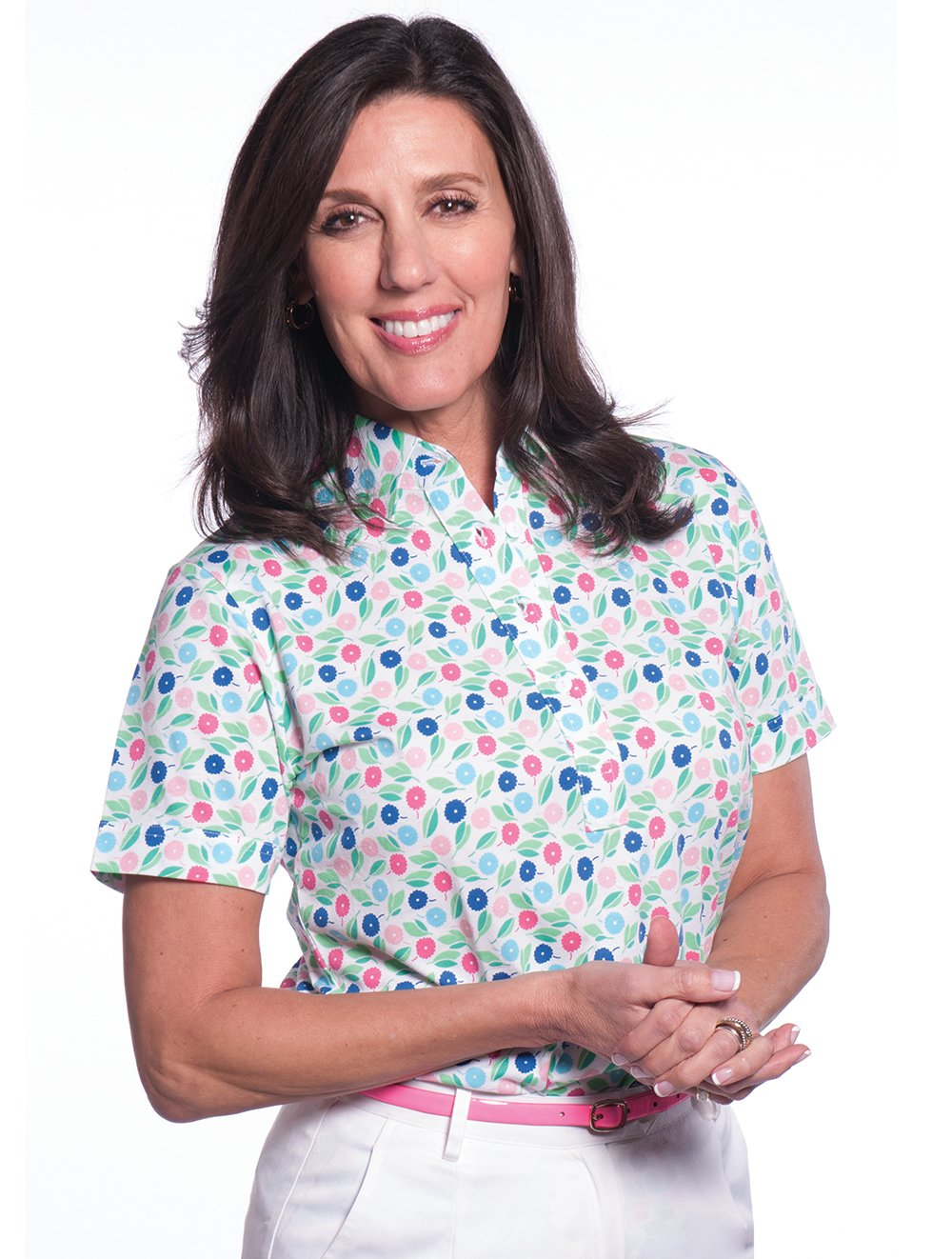 Short Sleeve Print Polo</br>Spring Fever 09H