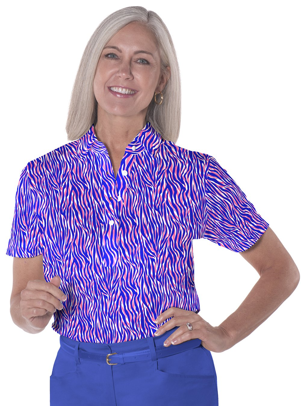 Short Sleeve Print Polo</br>Le Tigre 09J