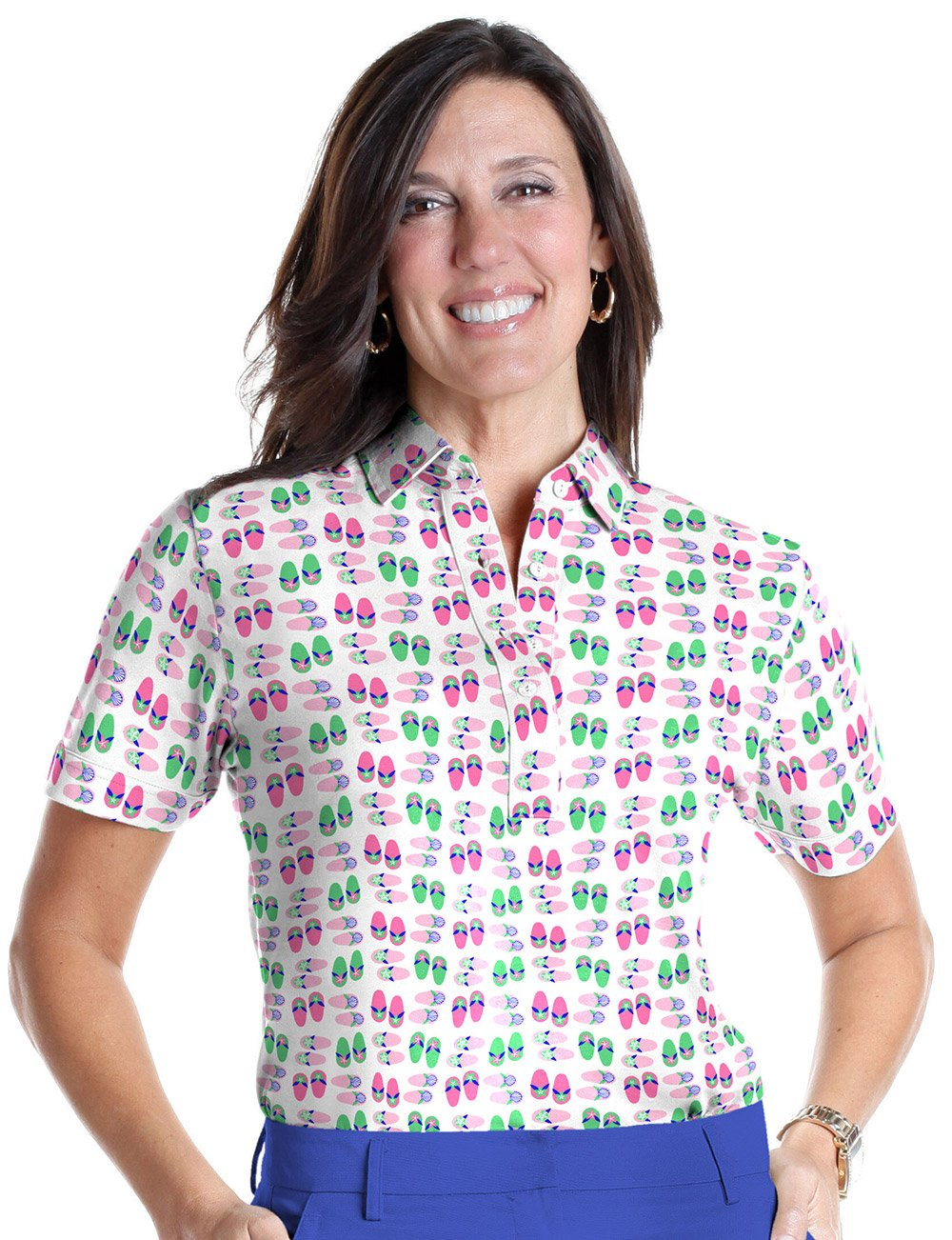 Short Sleeve Print Polo</br>Flip Out 09M