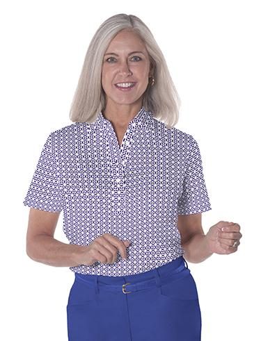 Ladies Short Sleeve Print Polo Shirts</br>Virtuoso 09V - Leonlevin