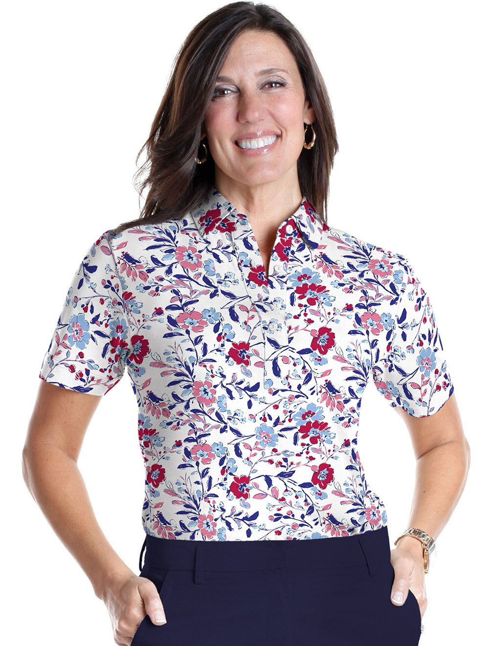 Short Sleeve Print Polo Easy Breezy 10P - Leonlevin