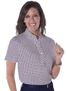 Short Sleeve Print Polo On the Dot 10U - Leonlevin