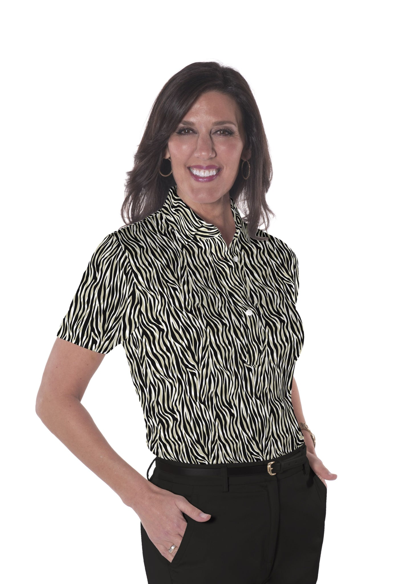 Short Sleeve Print Polo</br>Le Tigre 11F