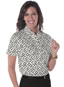 Short Sleeve Print Polo</br>Ring Around 11G