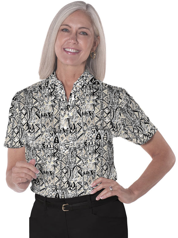 Short Sleeve Print Polo</br>Subtle Impact 11N