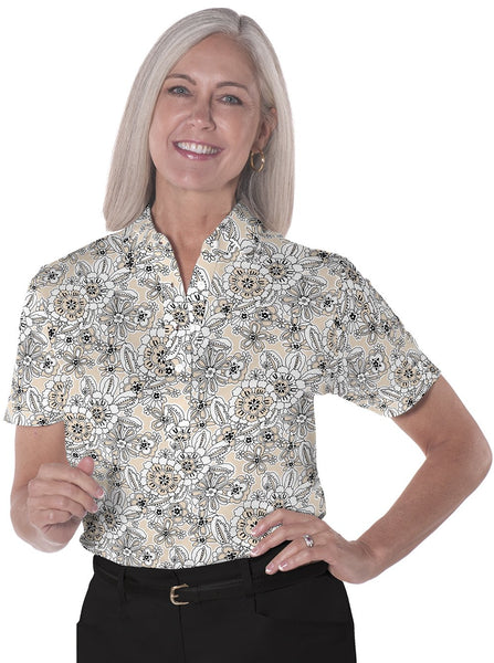 Ladies Short Sleeve Print Polo Shirts <br> Toss Up 11R - Leonlevin