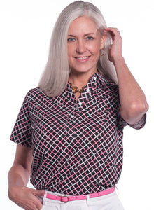 Short Sleeve Print Polo</br>Intersection 12A