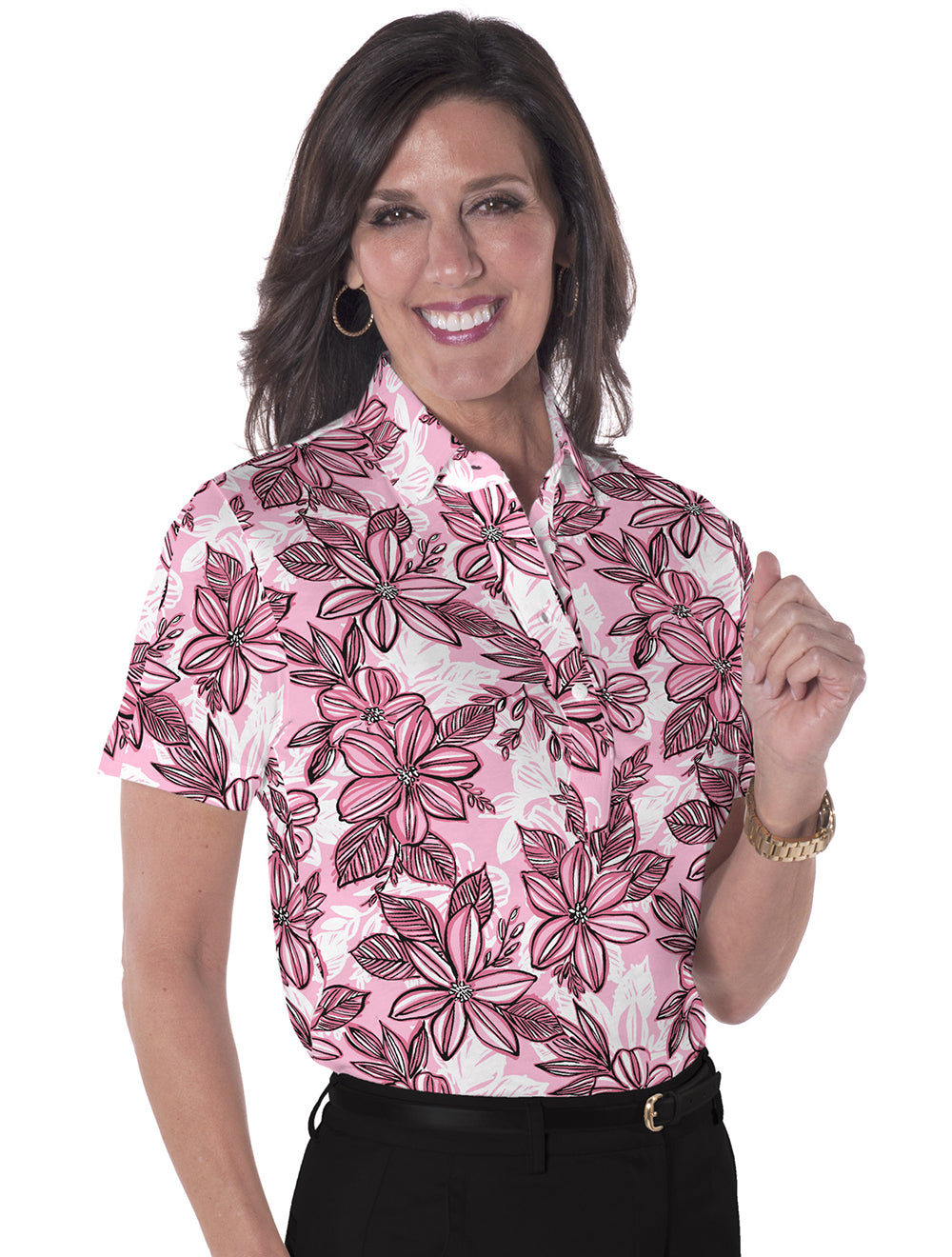 Short Sleeve Print Polo</br>Sunny Side 12C - Leonlevin