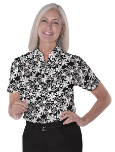Short Sleeve Print Polo</br>Moonlight Serenade 12E - Leonlevin