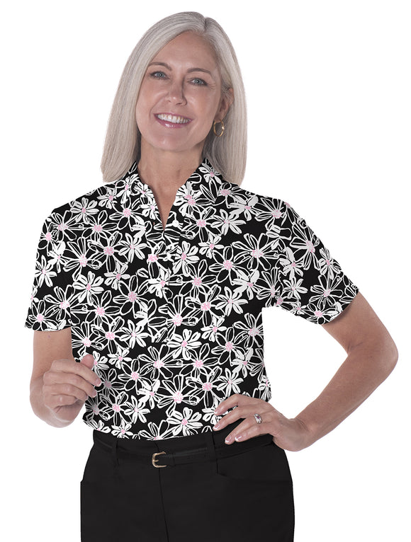 Short Sleeve Print Polo</br>Moonlight Serenade 12E