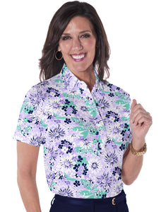 Short Sleeve Print Polo</br>Always and Forever 14D - Leonlevin