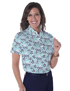 Ladies Short Sleeve Print Polo Shirts</br>Sweet Serenade 15F
