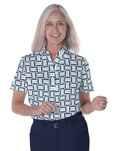 Ladies Short Sleeve Print Polo Shirts</br>Hey Sailor! 15G