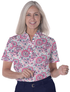 Ladies Short Sleeve Print Polo Shirts</br>Toss Up 16F