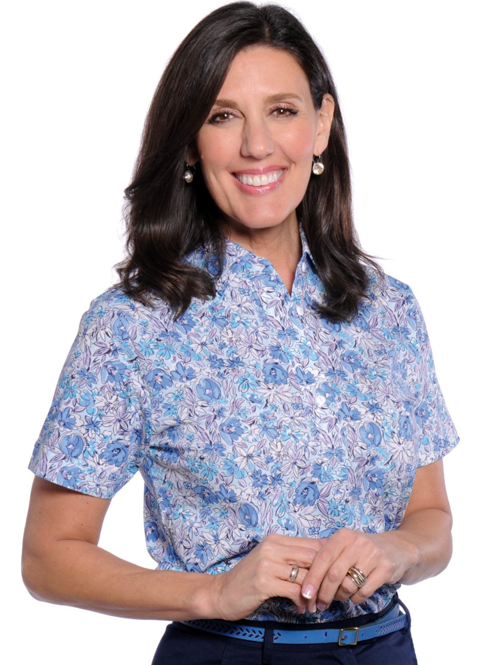 Short Sleeve Print Polo</br>Fancy This 19C