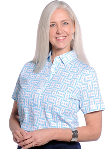 Short Sleeve Print Polo</br>Hey Sailor! 19F
