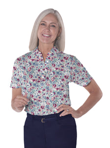Petite Short Sleeve Print Polo Shirts <br> Fancy This 21A - Leonlevin