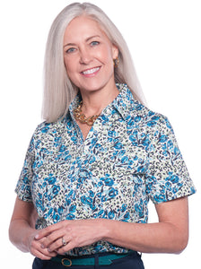 Short Sleeve Print Polo </br>Jungle Flower 20S