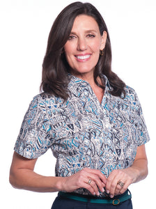 Short Sleeve Print Polo </br>Subtle Impact 20U
