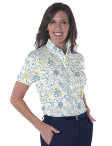 Short Sleeve Print Polo </br>Eazy Breezy 22A
