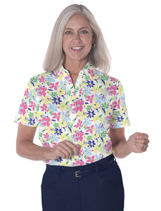 Short Sleeve Print Polo </br>Magic Garden 22C