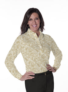 Ladies Long Sleeve Print Polo Shirts | The Sun Set 01E