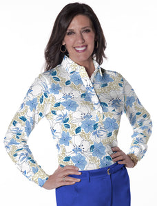 Long Sleeve Print Polo</br>Force of Nature 05G