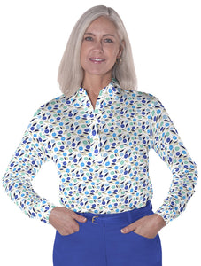 Long Sleeve Print Polo</br>Spring Fever 05H - Leonlevin