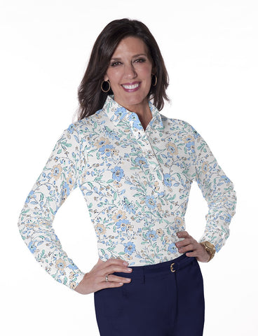 Long Sleeve Print Polos</br>Easy Breezy 05Q