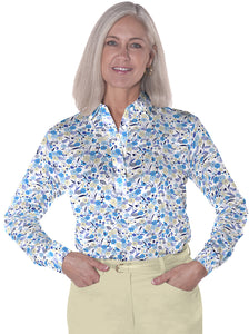 Ladies Long Sleeve Print Polo</br>Here and There 05i