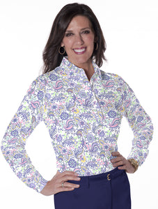 Long Sleeve Print Polo</br>Wanderlust 07L