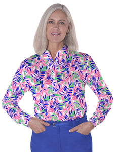 Long Sleeve Print Polo</br>Palm Reader 09C