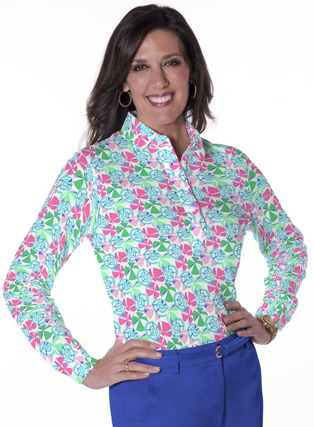 Long Sleeve Print Polo</br>Permanent Vacation 09N