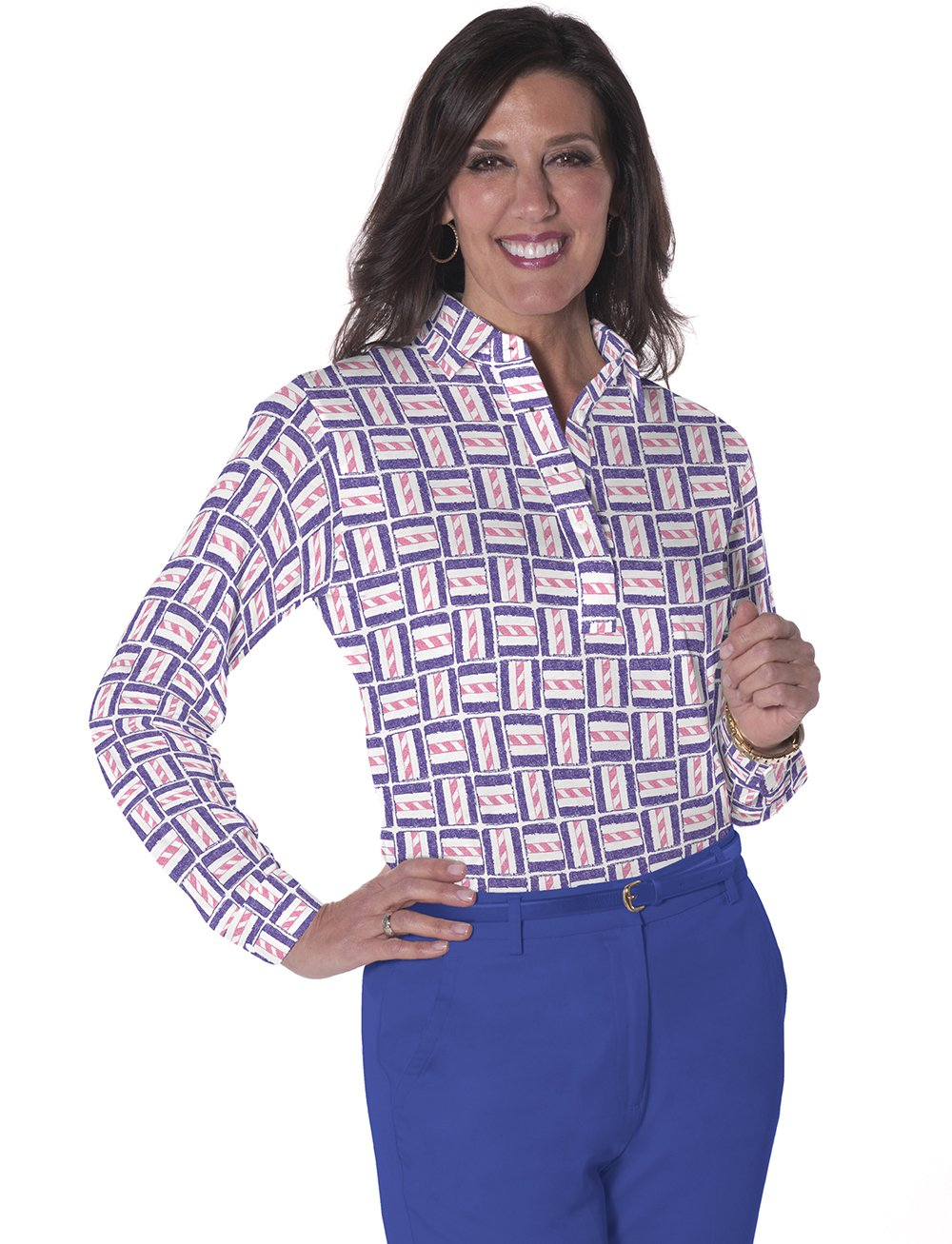 Long Sleeve Print Polos</br>Hey Sailor! 09U