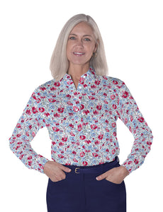 Petites Long Sleeve Print Polo Shirts</br>Fancy This 10R