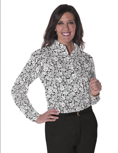 Petite Long Sleeve Print Polo Shirts <br> Fancy This 11J - Leonlevin