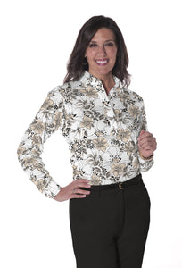 Ladies Long Sleeve Print Polo Shirts | Force of Nature 11K