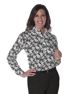 Petite Long Sleeve Print Polo</br>Sweet Serenade 11L - Leonlevin