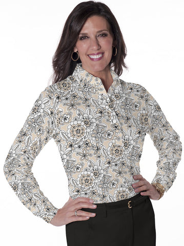 Ladies Long Sleeve Print Polo Shirts Toss Up 11R - Leonlevin