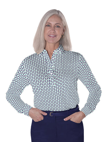 Long Sleeve Print Polos</br>Dot Matrix 15B