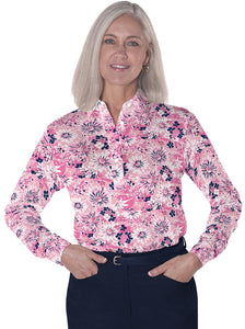 Petites Long Sleeve Print Polo Shirts</br>Always and Forever 16A - Leonlevin