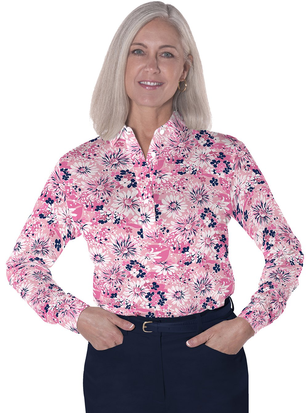 Long Sleeve Print Polos</br>Always and Forever 16A