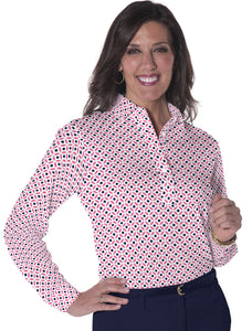 Long Sleeve Print Polos</br>Dot Matrix 16D