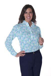 Long Sleeve Print Polo | Sweet Serenade 19E